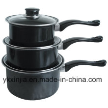 Aluminio Acero al Carbono Salsa Antiadherente Pan Cookare Set