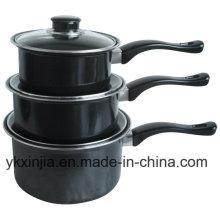 Aço Carbono de Alumínio Anti-Stick Sauce Pan Cookare Set