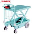 Neues Designlager, das Ausrüstungsscherenhebebühnen-Tischwagen übergibt