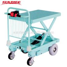Carrito / camión eléctrico de la plataforma de la capacidad 400kg con el levantamiento eléctrico