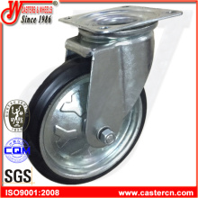 High Quality Swivel Black Rubber Hand Trolley Wheels