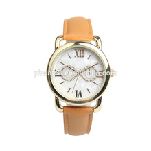 Quartz Watch Womens Waterproof Watch Creative Stones Dial on Sale Birthday Gift with PU Band