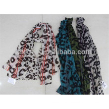In Stock Leopard Print Polyester Printed Scarf