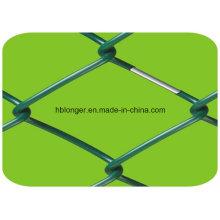 Cercado galvanizado revestido de la malla de alambre del acoplamiento de cadena / malla de alambre del diamante