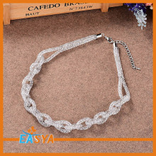 Crystal Chain Shape Mesh Charming Necklace 2015