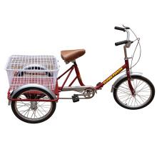 Bicicleta de tres ruedas ligera y portátil Senior People (FP-TRCY028)