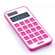 8 dígitos Dual Power Phone Shape Pocket Calculator