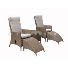 Jardim ao ar livre do Rattan Chaise Lounge sol cadeira