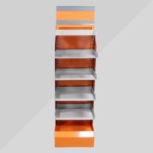 Personalized retail merchandising floor display racks