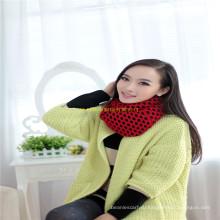 Новые 100% акриловые женщины трикотажные твердых Зимний круглый шарф