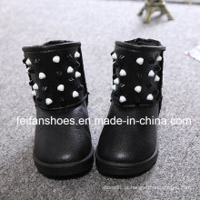 Botas de neve quente PU crianças superiores com boa qualidade