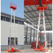 Gran venta !! Elevador de aleación de aluminio móvil de doble mástil de aluminio