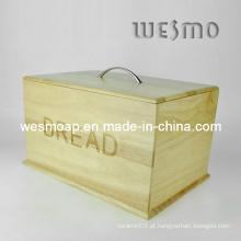 Estojo de loja de pão de cozinha de madeira (WKB0309A)