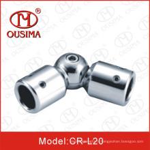Adjustabel en acier inoxydable douche en verre porte Pipe Connector