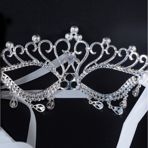 Vintage Rhinestone Masquerade Pageant Mask