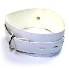 Sexo Cuello Cuello Cuello Collar Sm Collar Fetiche Sexo Juguetes Cuero PVC Cuello-Anillo Blanco para Pareja