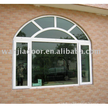 PVC window-Europe Style Sliding Window with Arch