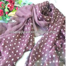 популярные женщины горошек шарф
