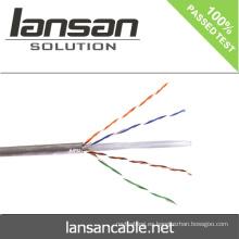 Lansan utp cat6 cable cable de red 4p 305m 23awg BC pase prueba de solapa buena calidad y precio de fábrica