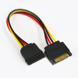 15pin Male to Female SATA  Power Extension Cable
