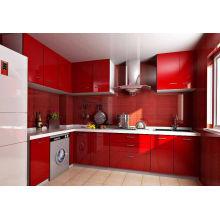 Gabinete de cocina de madera maciza de la venta del verde caliente de la venta