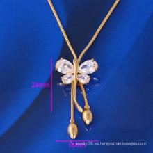 Collar de la aleación de la manera de Xuping con el oro plateado