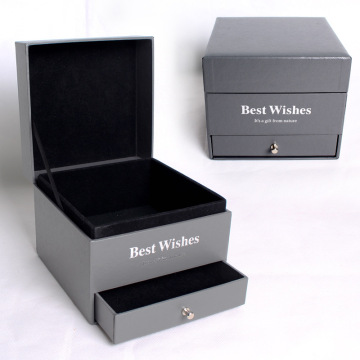 Double Layer Valentine Gift Box For Jewelry Flower