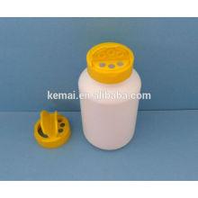Botella de plástico con tapa de aleta