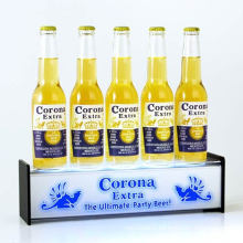 Retail Bars Lightbox Display Plinth for Bottles, Pop Display Box with LED