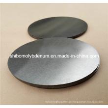 99,95% de disco redondo de molibdênio puro