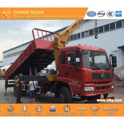 Dongfeng 10tons dump truck with 6.3tons crane