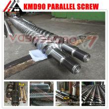 Barils à double vis bimétalliques pour machine de fabrication de granulés en plastique wpc pp/pe