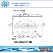 Bus Radiator For HYUNDAI I-100 PORTER 97-
