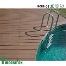 Precio competitivo varios colores piso de madera compuesto antideslizante de madera ULTRAVIOLETA