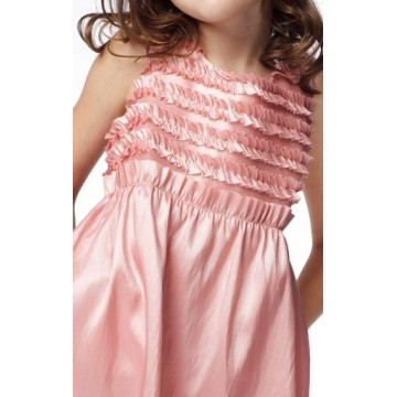 A-line Round Neck Knælang Taffeta Flower Girl Dress