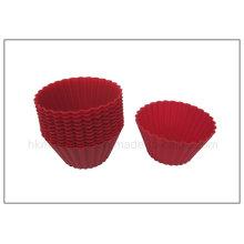 Copos de cozimento vermelhos do silicone 12pk (RS33)