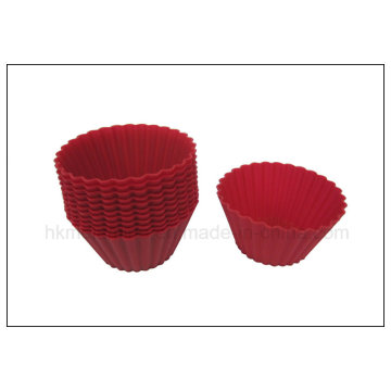 12pk Red silicona horneando copas (RS33)
