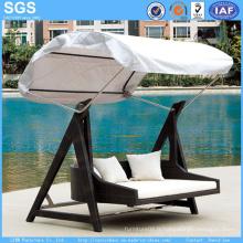 Meubles de jardin Chaise pivotante à meuble en rotin avec Canopy Swing Bed