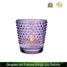 Printed Dotted Glass Votive Candle Holder for Home Decor