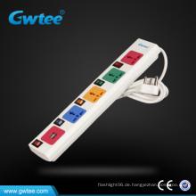 220V Individuelle Schalter Steckdosenleiste mit USB-Anschluss Ladegerät