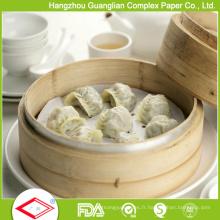 Doublure de vapeur de papier à la vapeur antiadhésive faite sur commande de silicone de catégorie comestible