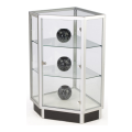 Adjustable Corner Display Case Hinged Door Shelves