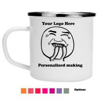 Tasse personnalisée en gros d'impression de logo de tasse de camping