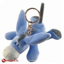 Llavero modificado para requisitos particulares del burro de la felpa del diseño del OEM