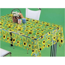 PVC Printed Transparent Tablecloth (TT0213)