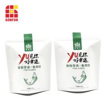 Bolsa de papel Kraft blanca para bolsa de embalaje de alimentos para mascotas