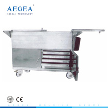 AG-SS035C meals warmer food cart stainless steel medical trolley