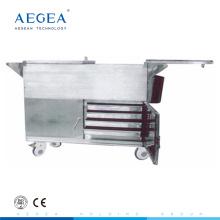 АГ-SS035C питание тележки грелки еды нержавеющей стали медицинского тележки