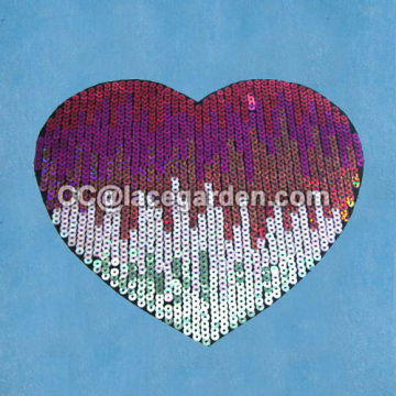 Heart-shaped Design Sequin Embroidery Patches