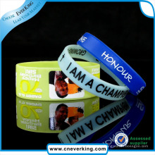 Top Quality Use and Printed Technique Colorful Rubber Wristband